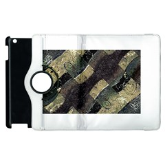 Geometric Abstract Grunge Prints in Cold Tones Apple iPad 2 Flip 360 Case
