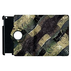 Geometric Abstract Grunge Prints in Cold Tones Apple iPad 3/4 Flip 360 Case