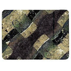 Geometric Abstract Grunge Prints in Cold Tones Samsung Galaxy Tab 7  P1000 Flip Case