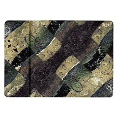 Geometric Abstract Grunge Prints in Cold Tones Samsung Galaxy Tab 10.1  P7500 Flip Case