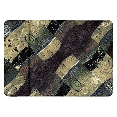Geometric Abstract Grunge Prints in Cold Tones Samsung Galaxy Tab 8.9  P7300 Flip Case