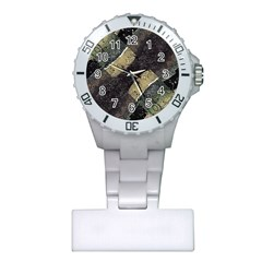 Geometric Abstract Grunge Prints In Cold Tones Nurses Watch