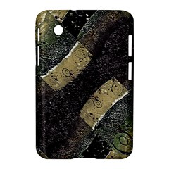 Geometric Abstract Grunge Prints in Cold Tones Samsung Galaxy Tab 2 (7 ) P3100 Hardshell Case