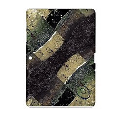 Geometric Abstract Grunge Prints in Cold Tones Samsung Galaxy Tab 2 (10.1 ) P5100 Hardshell Case