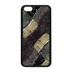 Geometric Abstract Grunge Prints In Cold Tones Apple Iphone 5c Seamless Case (black)