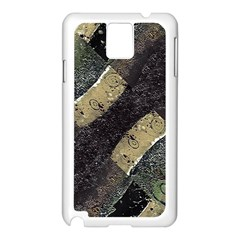 Geometric Abstract Grunge Prints in Cold Tones Samsung Galaxy Note 3 N9005 Case (White)