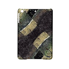 Geometric Abstract Grunge Prints in Cold Tones Apple iPad Mini 2 Hardshell Case