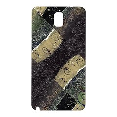 Geometric Abstract Grunge Prints in Cold Tones Samsung Galaxy Note 3 N9005 Hardshell Back Case