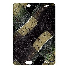 Geometric Abstract Grunge Prints In Cold Tones Kindle Fire Hd (2013) Hardshell Case