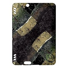Geometric Abstract Grunge Prints In Cold Tones Kindle Fire Hdx Hardshell Case