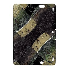 Geometric Abstract Grunge Prints in Cold Tones Kindle Fire HDX 8.9  Hardshell Case