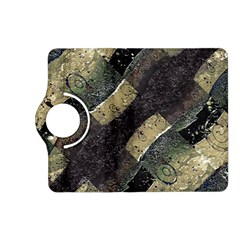 Geometric Abstract Grunge Prints in Cold Tones Kindle Fire HD (2013) Flip 360 Case