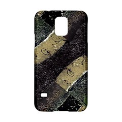 Geometric Abstract Grunge Prints in Cold Tones Samsung Galaxy S5 Hardshell Case