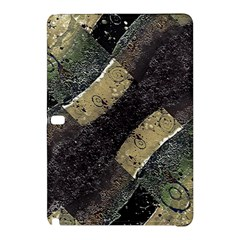 Geometric Abstract Grunge Prints In Cold Tones Samsung Galaxy Tab Pro 10 1 Hardshell Case
