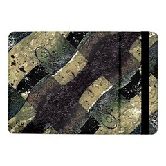 Geometric Abstract Grunge Prints in Cold Tones Samsung Galaxy Tab Pro 10.1  Flip Case