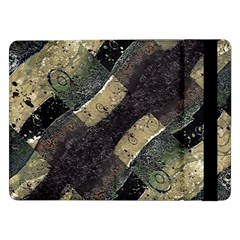 Geometric Abstract Grunge Prints in Cold Tones Samsung Galaxy Tab Pro 12.2  Flip Case