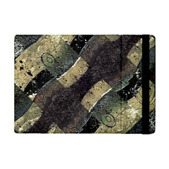 Geometric Abstract Grunge Prints in Cold Tones Apple iPad Mini 2 Flip Case
