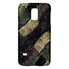 Geometric Abstract Grunge Prints in Cold Tones Samsung Galaxy S5 Mini Hardshell Case