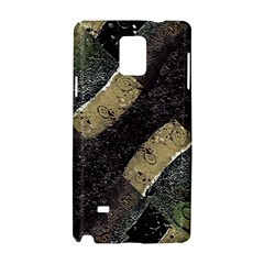 Geometric Abstract Grunge Prints in Cold Tones Samsung Galaxy Note 4 Hardshell Case