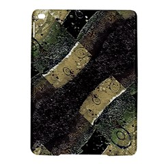 Geometric Abstract Grunge Prints in Cold Tones Apple iPad Air 2 Hardshell Case