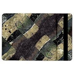 Geometric Abstract Grunge Prints in Cold Tones Apple iPad Air 2 Flip Case