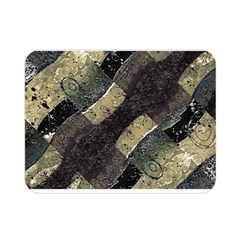 Geometric Abstract Grunge Prints In Cold Tones Double Sided Flano Blanket (mini)