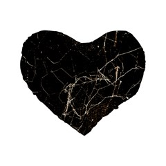 Spider Web Print Grunge Dark Texture 16  Premium Heart Shape Cushion