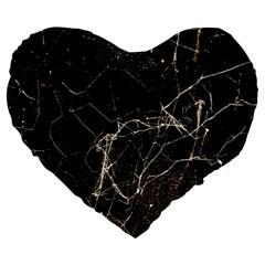 Spider Web Print Grunge Dark Texture 19  Premium Heart Shape Cushion