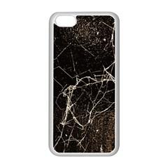 Spider Web Print Grunge Dark Texture Apple iPhone 5C Seamless Case (White)