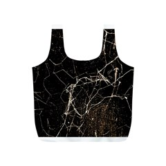 Spider Web Print Grunge Dark Texture Reusable Bag (S)