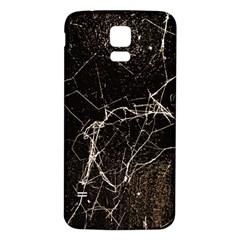 Spider Web Print Grunge Dark Texture Samsung Galaxy S5 Back Case (white)