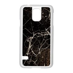 Spider Web Print Grunge Dark Texture Samsung Galaxy S5 Case (White)