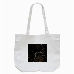 Spider Web Print Grunge Dark Texture Tote Bag (White)