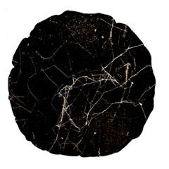 Spider Web Print Grunge Dark Texture 18  Premium Flano Round Cushion