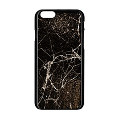 Spider Web Print Grunge Dark Texture Apple iPhone 6 Black Enamel Case