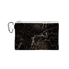 Spider Web Print Grunge Dark Texture Canvas Cosmetic Bag (Small)