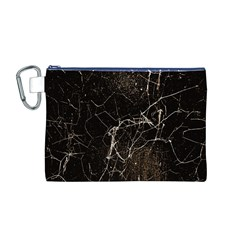 Spider Web Print Grunge Dark Texture Canvas Cosmetic Bag (Medium)
