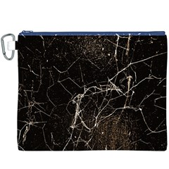 Spider Web Print Grunge Dark Texture Canvas Cosmetic Bag (xxxl)