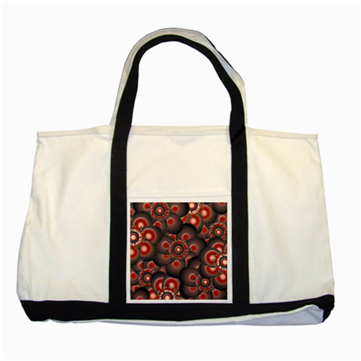 Modern Floral Decorative Pattern Print Two Toned Tote Bag