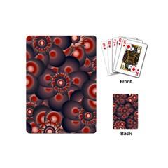 Modern Floral Decorative Pattern Print Playing Cards (mini)