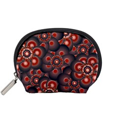 Modern Floral Decorative Pattern Print Accessory Pouch (small)