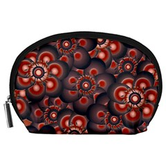 Modern Floral Decorative Pattern Print Accessory Pouch (Large)