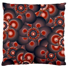 Modern Floral Decorative Pattern Print Large Flano Cushion Case (Two Sides)