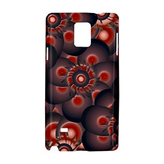 Modern Floral Decorative Pattern Print Samsung Galaxy Note 4 Hardshell Case
