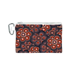Modern Floral Decorative Pattern Print Canvas Cosmetic Bag (Small)