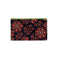 Modern Floral Decorative Pattern Print Cosmetic Bag (xs)