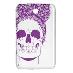 Purple Skull Bun Up Samsung Galaxy Tab 3 (7 ) P3200 Hardshell Case