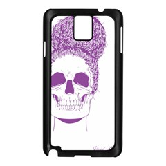 Purple Skull Bun Up Samsung Galaxy Note 3 N9005 Case (Black)