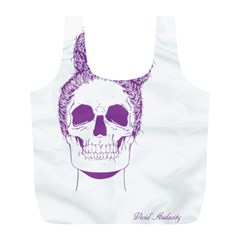 Purple Skull Bun Up Reusable Bag (L)