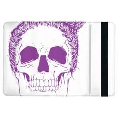 Purple Skull Bun Up Apple Ipad Air Flip Case